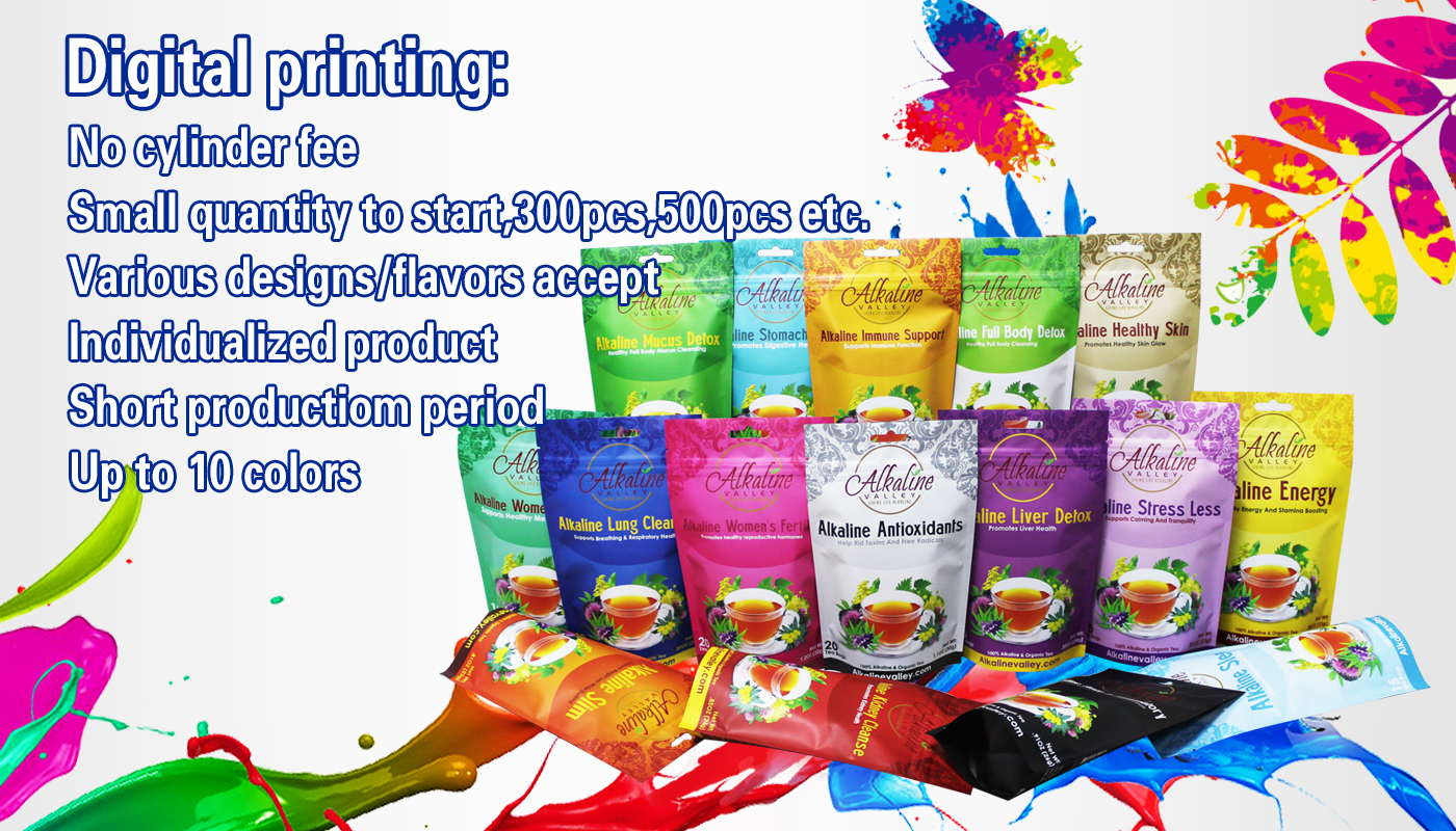 Frosted Plastic Zipper Bag Made Craft Food Packaging Drawstring Low Moq Printing Digital Printed Stand Up Pouch