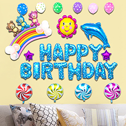 China Factory Stick On Wall Colorful Interesting Cheap  Foil  Balloons Mermaid Happy Birthday Party  Decoration  Balloons
