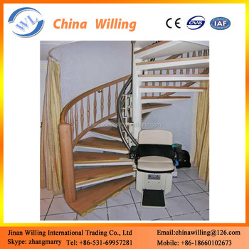 Electric Wheelchair Lift Seat/curved Stair Chair Seat Lift - Buy ...