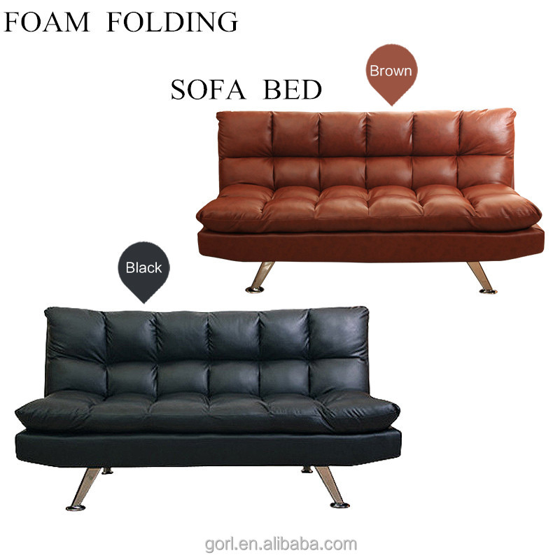 Gorl Space Saving 3 In 1 Futon Sofa Cum Bed,Folding Leather Sofa ...