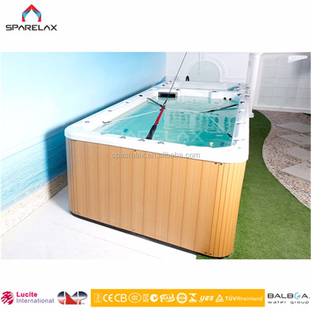 Europe Luxury Acrylic 6 Meter Endless Swimming Pool Spa outdoor Spa Pool/Inground & Outdoor Swimming Spa