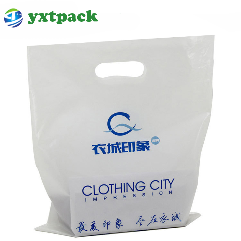 Biodegradable Small Clear Ping Handle Cut Plastic Hdpe Bag With Logos Bags