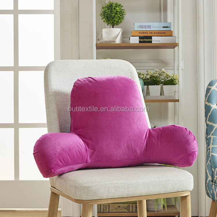 Office back pillow VELVET chair sofa bed car reading seat back cushion Reading massage Pillow