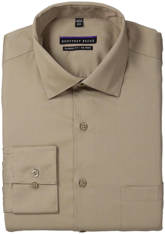a1c7b85b47 Buy Geoffrey Beene Mens Regular-Fit Sateen Dress Shirt in Cheap ...