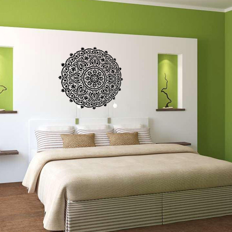 New Arrival Home Decoration Indian Buddhist Mandala Art Deco Wall Decals Sticker Living Room Bedroom Home Murals Sticker Y023