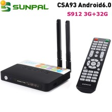 CSA93 Android6.0 Amlogic S912 Smart TV Box 3G 32G WiFi 4K Media Streamer IPTV Box with Spanish Russian Keyboard