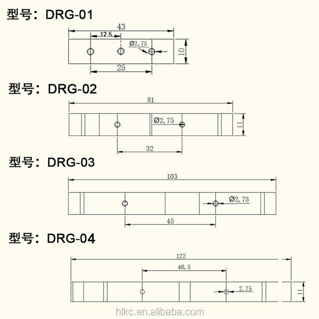 UK DRG-01 PCB DIN 35 Rail Adapter Circuit Board Mounting Bracket Mount Holder