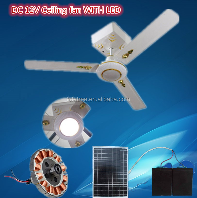 "56"" solar power decorative ceiling fan solar rechargeable ceiling fan"