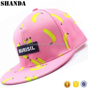 Banana Snapback Hats Custom Rubber Patches Digital Printing Logo ... 4cce09a41d2e