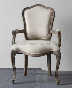 Charmant Vintage French Side Chair,Wooden Side Chair,Camelback Cane Back Upholstered Side  Chair