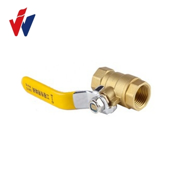 "PN25 1/2"" NPT thread PN16 brass ball valve with long handle"