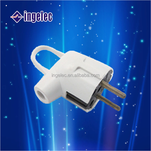 YiWu No.1 hot sale ingelec brand french type plastic 2 flat pin wall plug and socket
