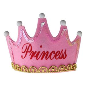 Pink Princess Crown For Girls with LED Birthday Prince Princess Headband Headpiece Bright CH771