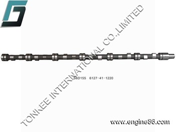 6127-41-1220 S6D155 camshaft for PC400-5 hydraulic excavator engine parts