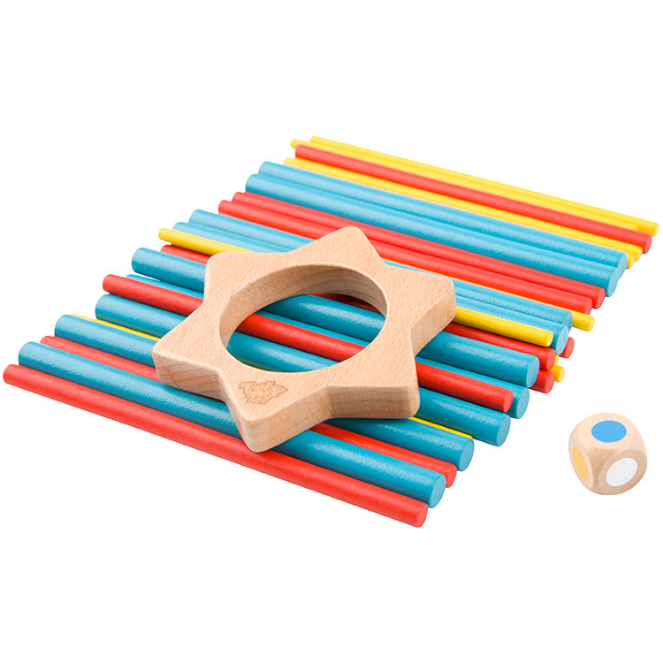 2019 New Design Keep It Steady Wooden Colorful Stick Toys For Kids
