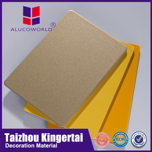 Alucoworld 2mm to 6mm aluminium composite standard size acp sheet manufacturer
