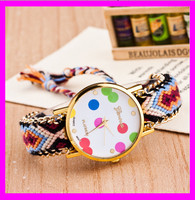 KD5122 New Brand Handmade Braided Friendship Bracelet Watch Ladies GENEVA Watch