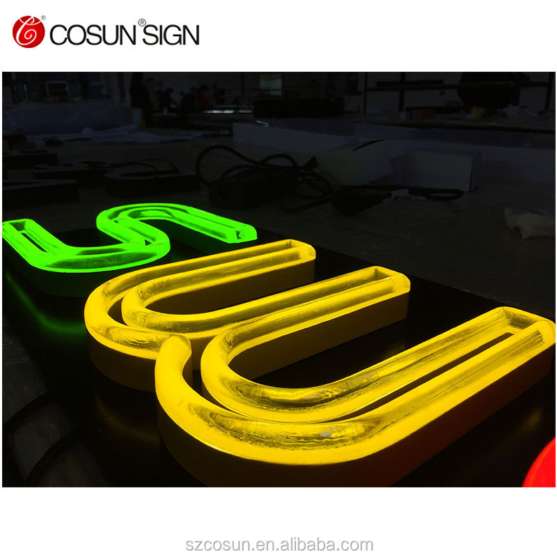 Store front raceway neon flex led mini letter sign