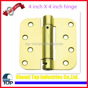 Hot Sale 4 in. x 4 in. Satin Brass Steel Spring Hinge