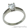 silver tone casting CZ stainless steel engagement ring macys