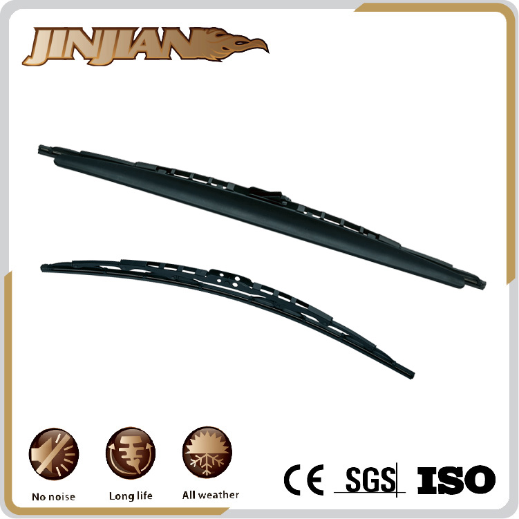 JJ Factory Provide Stainless Steel Backing Double Wiper Blade