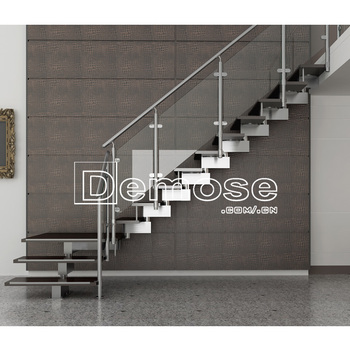 Modern Tempered Glass Stair Railing Clips Case For Prefabricated House    Buy Glass Stair Case,Modern Glass Stair Clips,Tempered Glass Stair Railing  ...