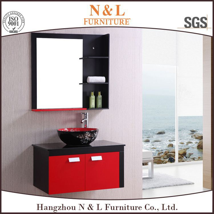Popular Bathroom vanity led frosted glass kitchen cabinet