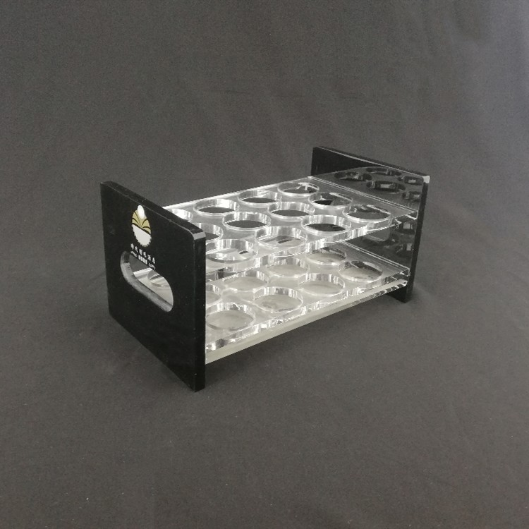 Custom tabletop acrylic wine beer glass display holder