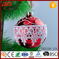 Wholesale blown painted glass ball arts for indoor decoration