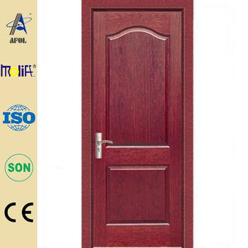 Zhejiang afol natural veneer wooden door plywood doors for Plywood door design