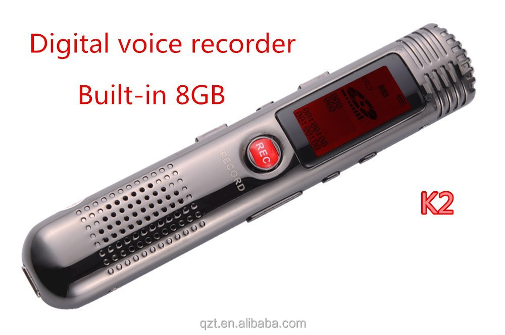 K2 Voice Recorder 8GB LCD Screen Displayer Pen Voice Recorder with MP3 music Player High-fidelity recording