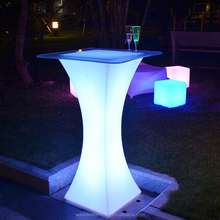 Modern fascinating LED cocktail table Hot sale LED waterproof plastic cocktail table