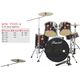 5-PC Junior Drum Set/Drum Kits For Kids