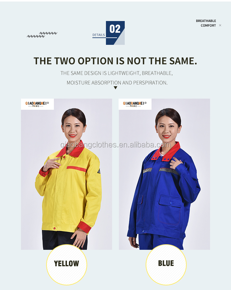 High Quality TC Long Sleeve Safety Anti Static Oil Field  Work Suit Clothes