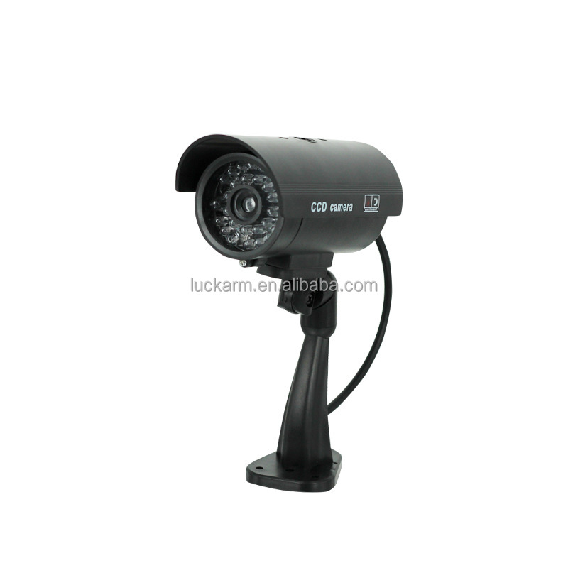 Security battery operated Wireless Fake Dummy Bullet cctv Waterproof Camera Outdoor For Home With Flash