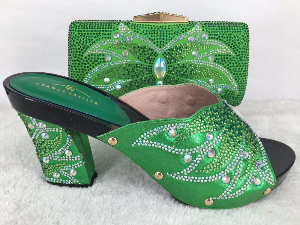 match and shoes match bag to women wedding in bags for green to Shoes 4Zwpxqnq
