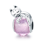 Made in China Charm Bead 925 Sterling Silver Cat's Dream Charm