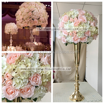 Lfb467 50cm Fake Rose Hydrangea Floral Flower Ball Centerpiece