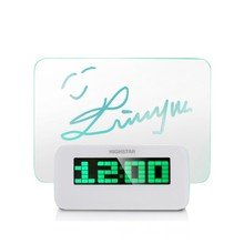 shenzhen HIGHSTAR LED Memo Board Digital Table Alarm Clock with USB Hub