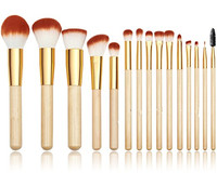 Custom Logo Makeup Brushes Set 15pcs Synthetic Foundation Contour EyeShadow Powder Blending Cosmetic Tool