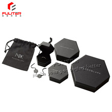 Custom Design Unique 폼 Insert Hexagon Jewelry Box 와 <span class=keywords><strong>Logo</strong></span>