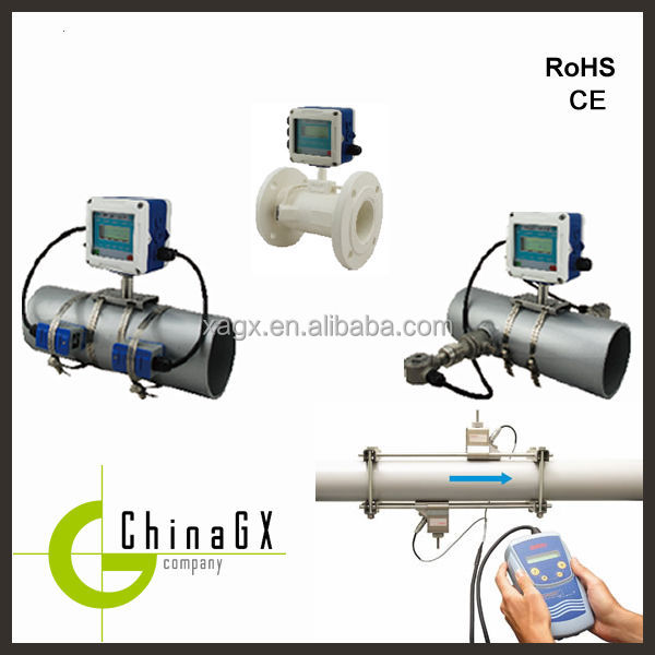 ultrasonic portable low cost water / food processing /flow meter water