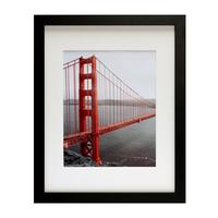 wood 11x14 Black Picture Frame - Made to Display Pictures 8x10 with Mat or 11x14 Without Mat