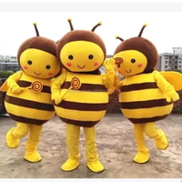 Hot sale popular funny plush bee cartoon character mascot costumes for advertising promotion