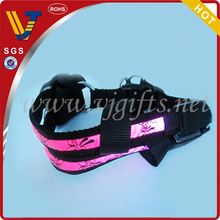 2014 ventas calientes cinta multicolor correas de nylon collares de perro led