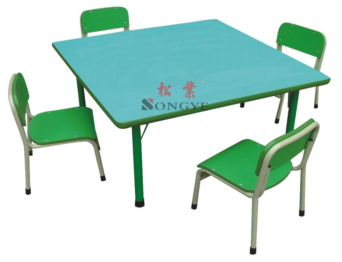 Kid's Square Table,School Desk And Chair,Desk And Chair ...