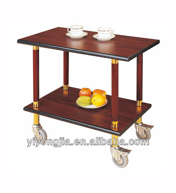 Restaurant Food Service Trolley/hosptial food trolley/wooden serving trolley