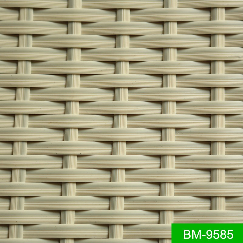SGS Tested White Color Plastic Poly Rattan Material for Furniture Procucts