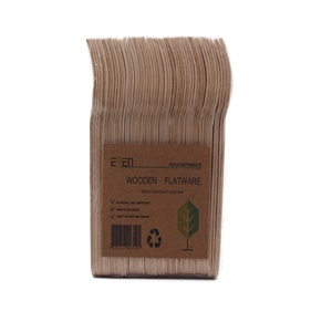 50 piece per pack disposable wooden fork