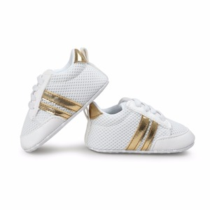 New Romirus Mesh Breathable shoes infant anti-slip PU Leather first walker soft soled Newborn Sneakers Branded Baby shoes